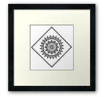 Diamond Mandala Framed Print