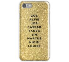 Glittery British YouTubers! iPhone Case/Skin