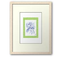 0901 - Bright Green And Spiky Framed Print