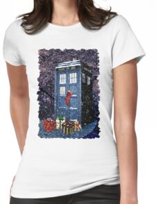 Tardis Christmas Womens Fitted T-Shirt