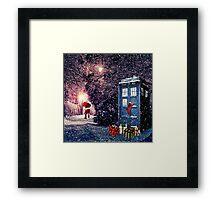 Tardis Christmas Framed Print