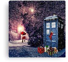 Tardis Christmas Canvas Print