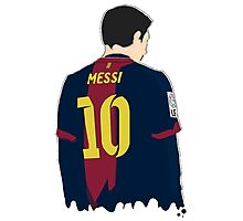 -SPORTS- Messi's Back Photographic Print