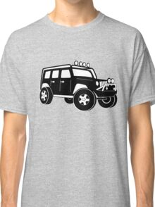Jeep Wrangler Sticker / Decal - Front 3/4 Touring Design - Black Classic T-Shirt