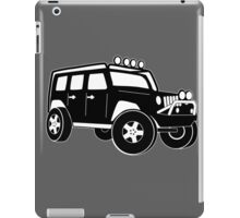 Jeep Wrangler Sticker / Decal - Front 3/4 Touring Design - Black iPad Case/Skin