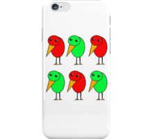 Green and red parrots  iPhone Case/Skin