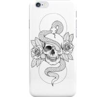 Rebirth Rose Skull iPhone Case/Skin