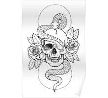 Rebirth Rose Skull Poster