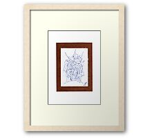 0903 - Brown Framed Print