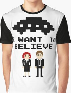 I Want To Believe 8bit Graphic T-Shirt