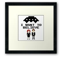 I Want To Believe 8bit Framed Print