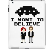 I Want To Believe 8bit iPad Case/Skin