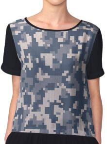 Digital Winter Camouflage Chiffon Top