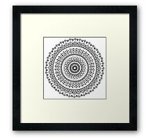 Vintage Mandala Framed Print