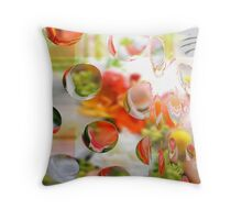 Citrus Dots Lime and Orange Throw Pillow