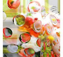 Citrus Dots Lime and Orange Photographic Print