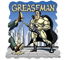 Greaseman - Fighting Evil With Lubrication Photographic Print