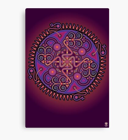 Unique abstract poster designs-Cell penetration Canvas Print