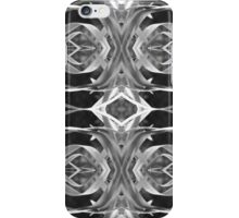Black and White Leaves Pattern iPhone Case/Skin