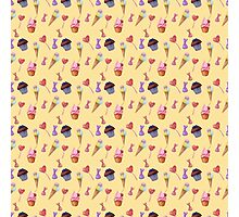 Watercolor sweets pattern Photographic Print