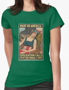 Wake Up America Womens Fitted T-Shirt