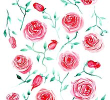 Watercolor provance roses by ldinka