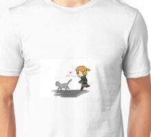 Anders trying to catch a kitty Unisex T-Shirt