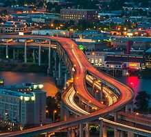 Portland Traffic at Dusk by thatche2