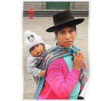 Woman and Child, Lima Peru Poster