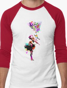 A Bird And The Violinist Men's Baseball ¾ T-Shirt