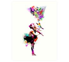 A Bird And The Violinist Art Print