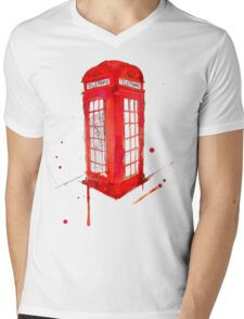 Telephone Booth 578 Mens V-Neck T-Shirt