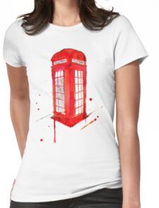 Telephone Booth 578 Womens Fitted T-Shirt