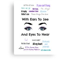 Sleeping With Ears & Eyes to See and Hear Canvas Print
