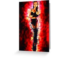 Cosmic Sexy Collection - Pinup #8 Greeting Card