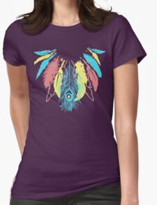 Cute Feather Necklace Graphic  Womens Fitted T-Shirt