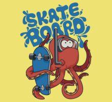 skater octopus character design One Piece - Short Sleeve