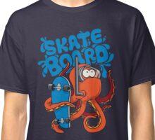 skater octopus character design Classic T-Shirt