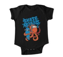 skater octopus character design One Piece - Short Sleeve