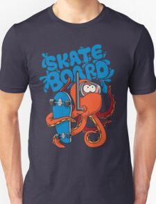 skater octopus character design Unisex T-Shirt