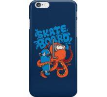 skater octopus character design iPhone Case/Skin