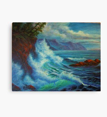 Sea Cliff Surge Canvas Print