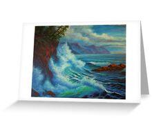 Sea Cliff Surge Greeting Card