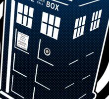 Never Cruel Or Cowardly - Doctor Who - Blue TARDIS Sticker