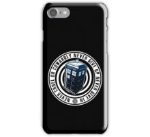 Never Cruel Or Cowardly - Doctor Who - Blue TARDIS iPhone Case/Skin