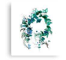 Beautuful vintage flower wreath design  Canvas Print