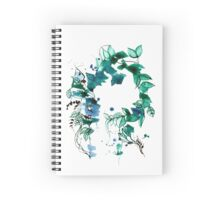 Beautuful vintage flower wreath design  Spiral Notebook