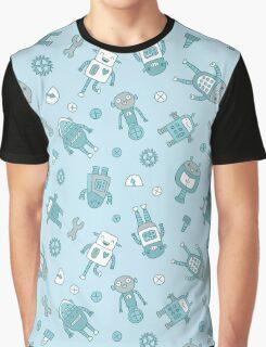 Robots Pattern Background Graphic T-Shirt