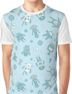 Robots Pattern Background Graphic T-Shirt
