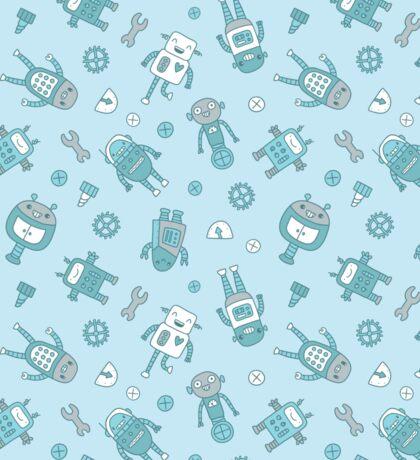 Robots Pattern Background Sticker